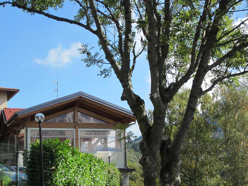 Ristorante sole esterno tetto